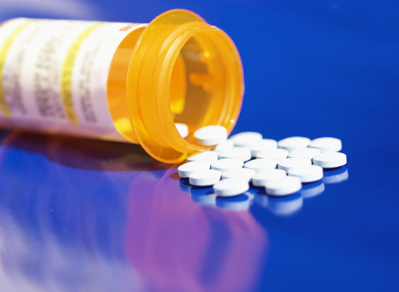 Prescription bottle and pills