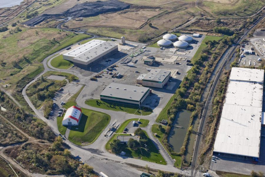 Aerial image of The Delaware Recycling Center, DSWA Webpage.