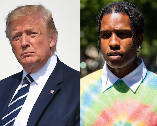 (President Donald Trump, Rapper ASAP Rocky)